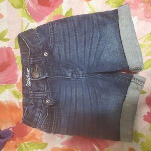 Toddler long jean shorts